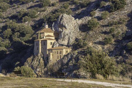 Hermitage os San Saturio (Soria, Spain).