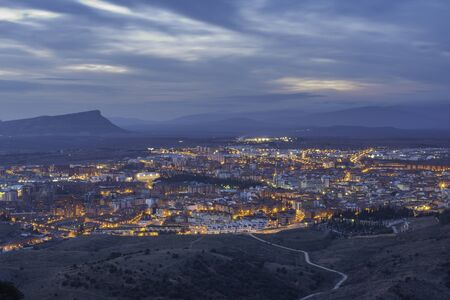 View of Soria city, Spain.
