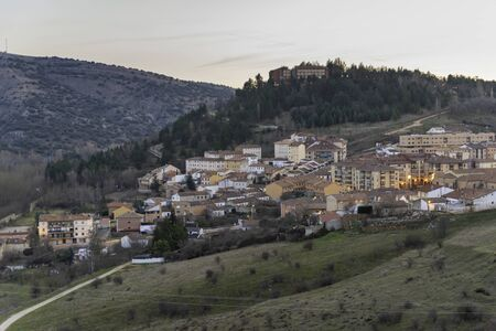 View of Soria city from Los Cuatro Vientos lookout (Soria, Spain).