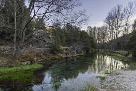 La Fuentona (Soria, Spain). 版權商用圖片