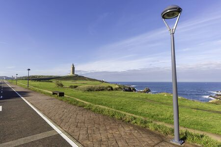 Coast of Hercules Tower (La Coruna, Spain).