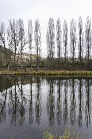 River walk of Duero river (Soria, Spain). 스톡 콘텐츠 - 146304366