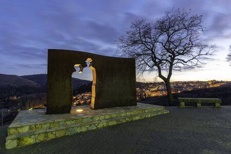 Monument to Antonio Machado in Soria, Spain.
