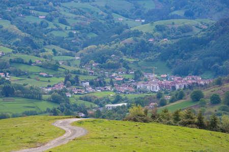 Leitza, small town in Navarra (Spain). Stock Photo