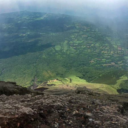 Steep slopes of the hike up the volcano Conception on the island Ometepe in Lake Nicaragua, Nicaragua