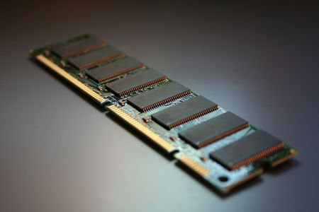 An isolated module of Random Access Memory. photo