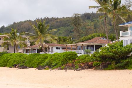 northshore: Paradise awaits with these great vacation home rentals on the north shore of oahu hawaii. Stock Photo