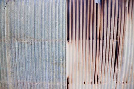 Metal wall detail creates an abstract background texture image with copy space or copyspace for designs. Stock Photo - 6119614