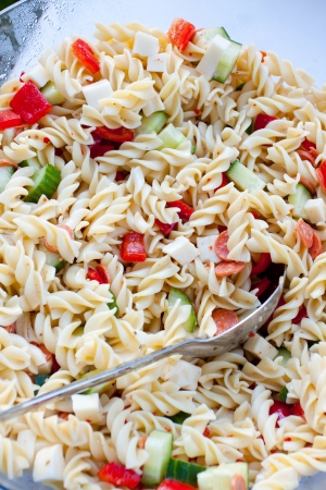 Wedding pasta salad at a buffet  Stock Photo - 16857052