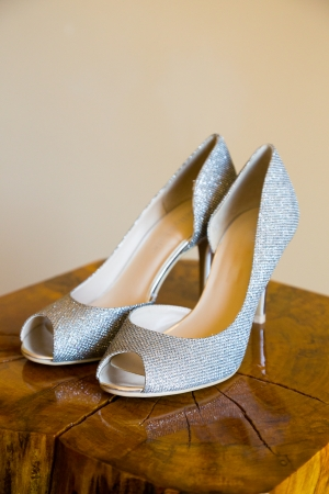 stilletto: These heels are ready for the bride to wear on her wedding day.