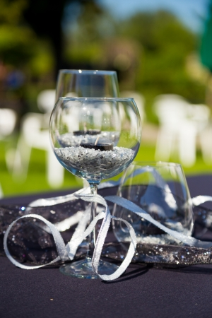 Wine Glasses Are The Centerpieces For This Elegant Luxury Wedding