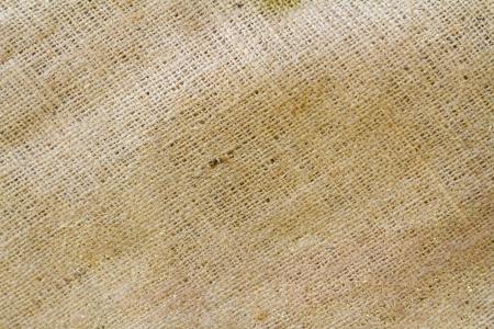 Burlap in a diagonal pattern creates this unique texture.