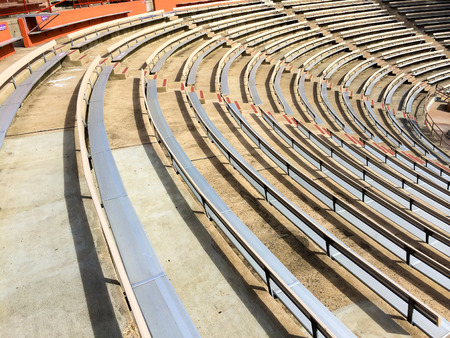 Outdoor bleacher seating in this California Amphitheater.