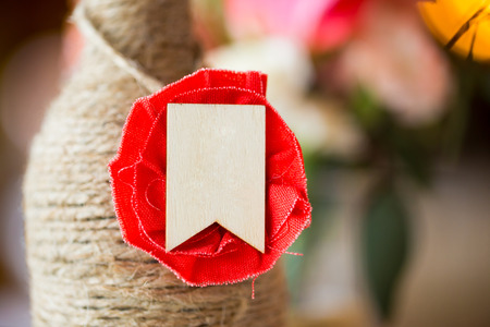 yourself: Closeup of a do it yourself piece of wedding decor. Stock Photo