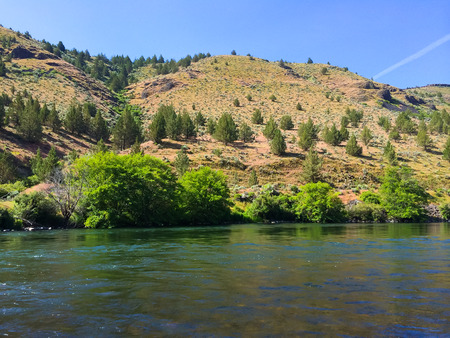 lower section: Nature scenic from the Lower Deschutes River wild and scenic canyon section on the water.