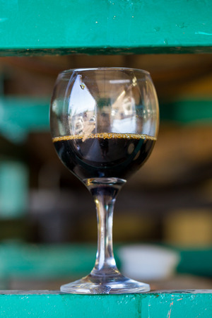 Aged  from a bourbon barrel at a craft brewery in Oregon. Stok Fotoğraf - 32937093