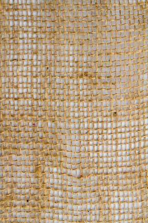 삼 베 자루의 추상 세부 이미지입니다.