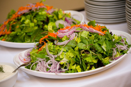 wedding food: Wedding food in a buffet style dinner at the reception. Stock Photo