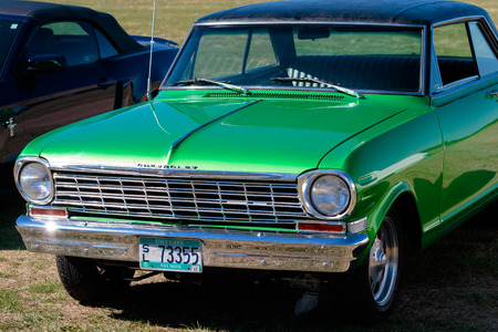dragstrip: WOODBURN, OR - SEPTEMBER 27, 2015: Classic Chevrolet parked in a field at the NHRA 30th Annual Fall Classic at the Woodburn Dragstrip. Editorial