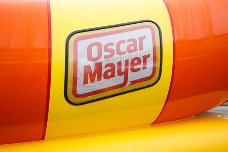 oscar: EUGENE, OR - NOVEMBER 12, 2015: Oscar Mayer Wienermobile makes an appearance at the University of Oregon in Eugene.