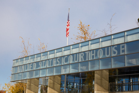 eugene: EUGENE, OR - NOVEMBER 21, 2015: Wayne Lyman Morse United States Courthouse federal building in Eugene Oregon. Editorial