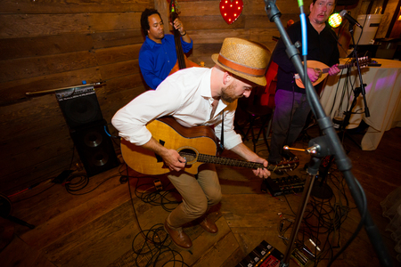 HILLSBORO, OR - SEPTEMBER 14, 2014: Will West and his band perform at the Cornelius Pass Roadhouse McMenamins in Hillsboro Oregon.