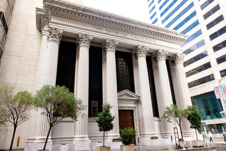 distric: SAN FRANCISCO, CA - DECEMBER 13, 2015: The Bank of California in the financial distric of downtown San Francisco.