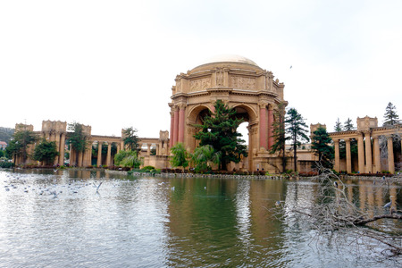fine arts: SAN FRANCISCO, CA - DECEMBER 12, 2015: Palace of Fine Arts in San Francisco left standing after the World Fair.