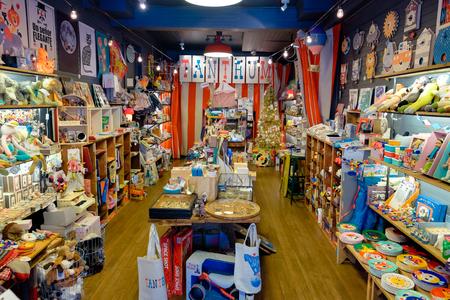 tantrum: SAN FRANCISCO, CA - DECEMBER 10, 2015: Tantrum kids store in the Haight neighborhood of San Francisco California.