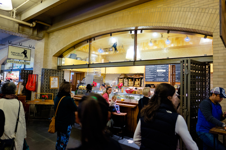 creamery: SAN FRANCISCO, CA - DECEMBER 12, 2015: Cowgirl Creamery in the Ferry Building at the Port of San Francisco. Editorial