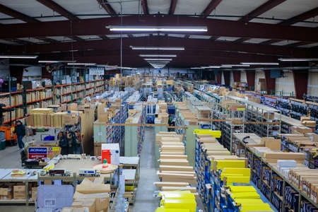 warehouse: EUGENE, OR - NOVEMBER 21, 2015: Auto Service Parts is a warehouse retail shop that sells service parts to automobile mechanics and auto repair facilities.