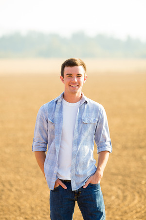 Portrait of a young man who is a high school senior in Oregon.