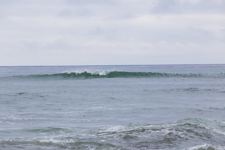 swell: Large waves during a Southern swell at La Jolla Beach in San Diego California. Stock Photo