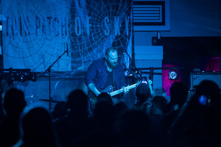 instrumental: EUGENE, OR - MARCH 26, 2016: Post-rock instrumental band This Patch of Sky performs at the HiFi Music Hall in Eugene, Oregin, USA. The bands talented musicianship and lack of vocals have set them apart, gaining international popularity.