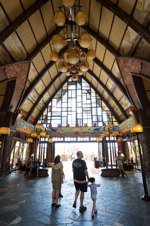 KOOLINA, OAHU, HAWAII - FEBRUARY 26, 2017: Disney Aulani Resort, an upscale hotel and entertainment resort by Walt Disney on the island of Oahu in Hawaii. Editorial