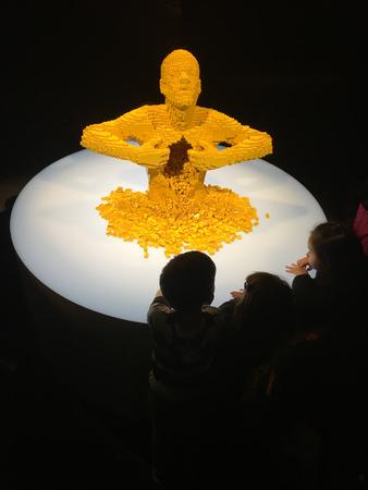PORTLAND, OR - MARCH 24, 2017: Art of the Brick Lego display at OMSI in Portland Oregon. Editöryel