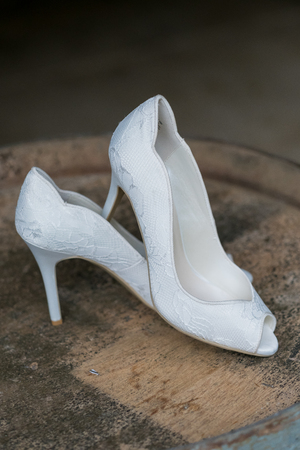 stilleto: White Wedding High Heel Shoes