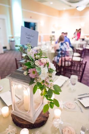 candlelit: Wedding Reception Table Centerpiece