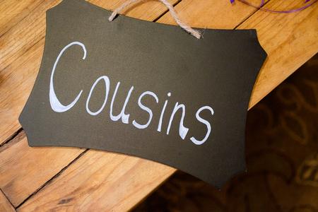 Signo de la boda hecho a mano Foto de archivo