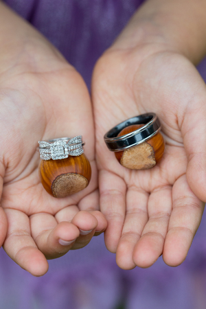 Ring Bearer with Wedding Rings