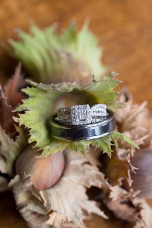 Wedding Rings on Filbert Nuts