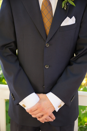 Groom Formal Attire on Wedding Day Stock Photo - 77769486