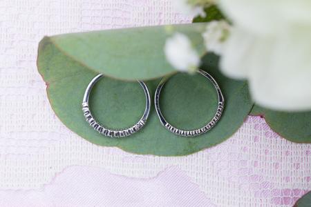Wedding Rings on Flowers