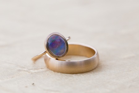 Wedding Rings on Fabric
