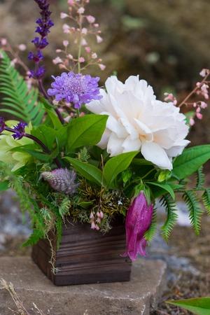 Foraged and Found Wedding Florist Bouquet Zdjęcie Seryjne