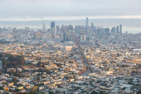 San Francisco City Skyline from Twin Peaks Sajtókép