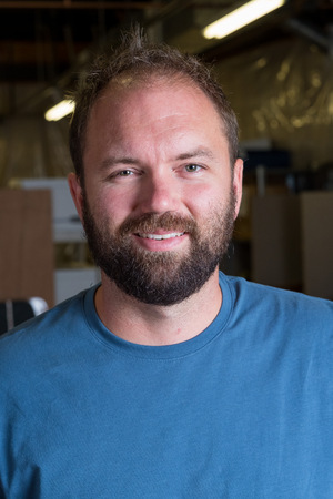Bearded Man Headshot Portrait Stockfoto