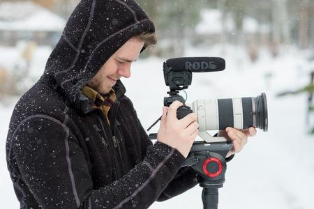 Wedding Videographer at Winter Wedding Editorial