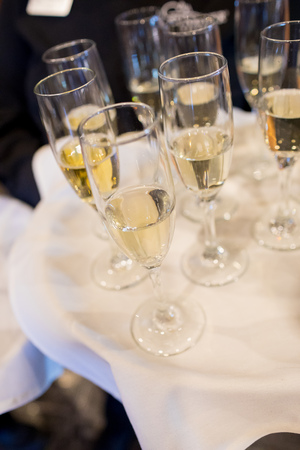 Champagne Flutes for Toast at Wedding Standard-Bild
