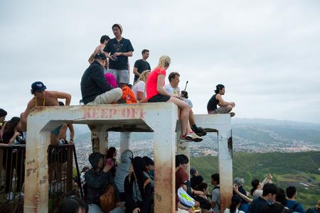 Crowded Summit Diamond Head Hike